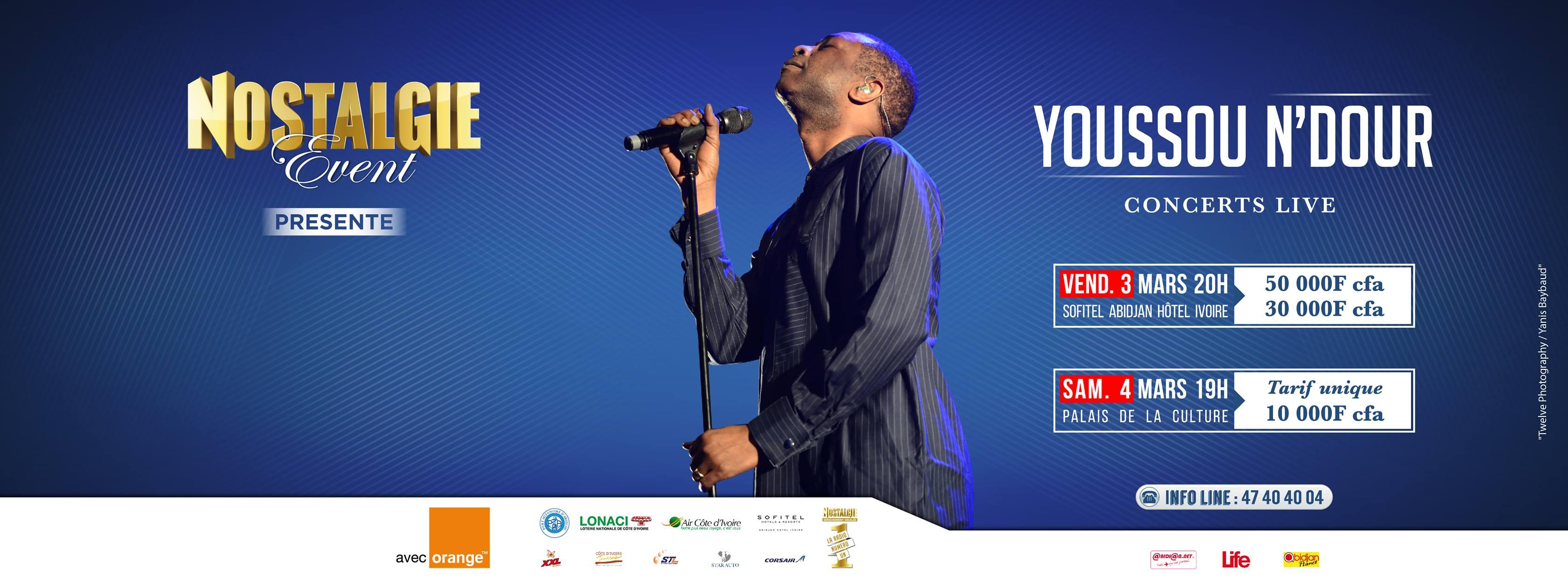Youssou Ndour en concert à Abidjan